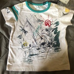 Burberry Infant White Sailing Top 9 months